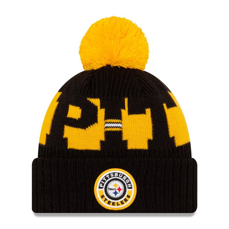 NFL Bobble Knit Wintermütze Team Pittsburgh Steelers