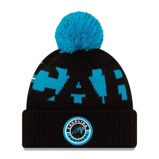 NFL Bobble Knit Wintermütze Team Carolina Panthers
