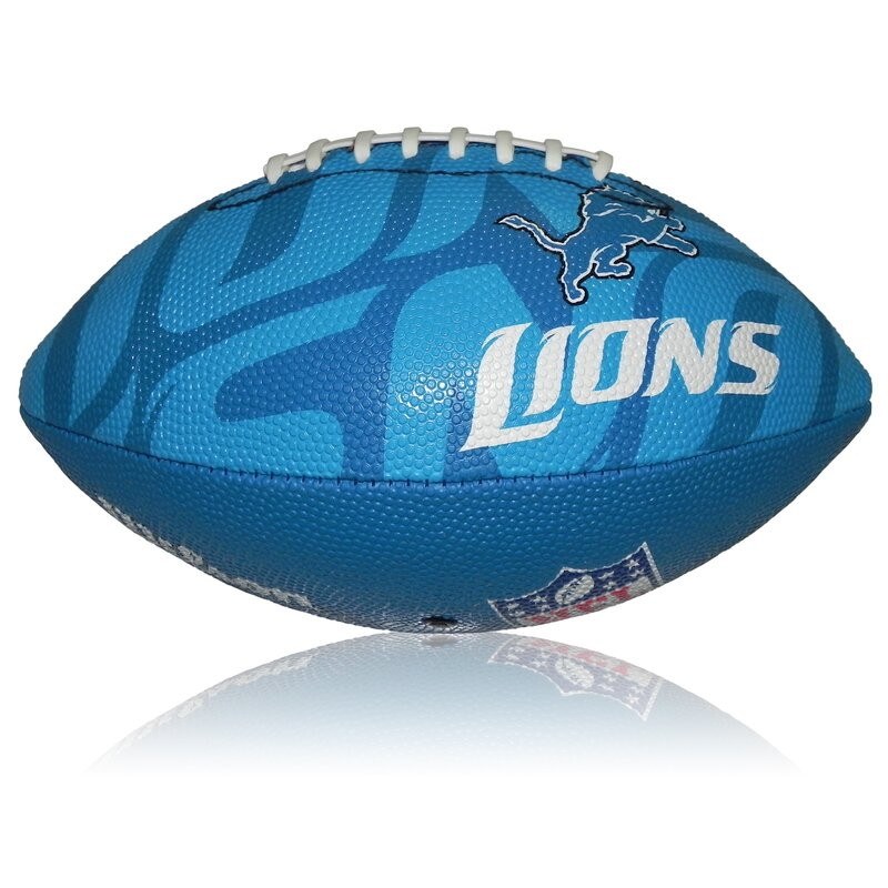 Wilson NFL Junior Detroit Lions Logo Football