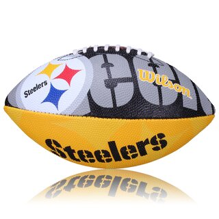 Wilson NFL Junior Pittsburgh Steelers Logo Football