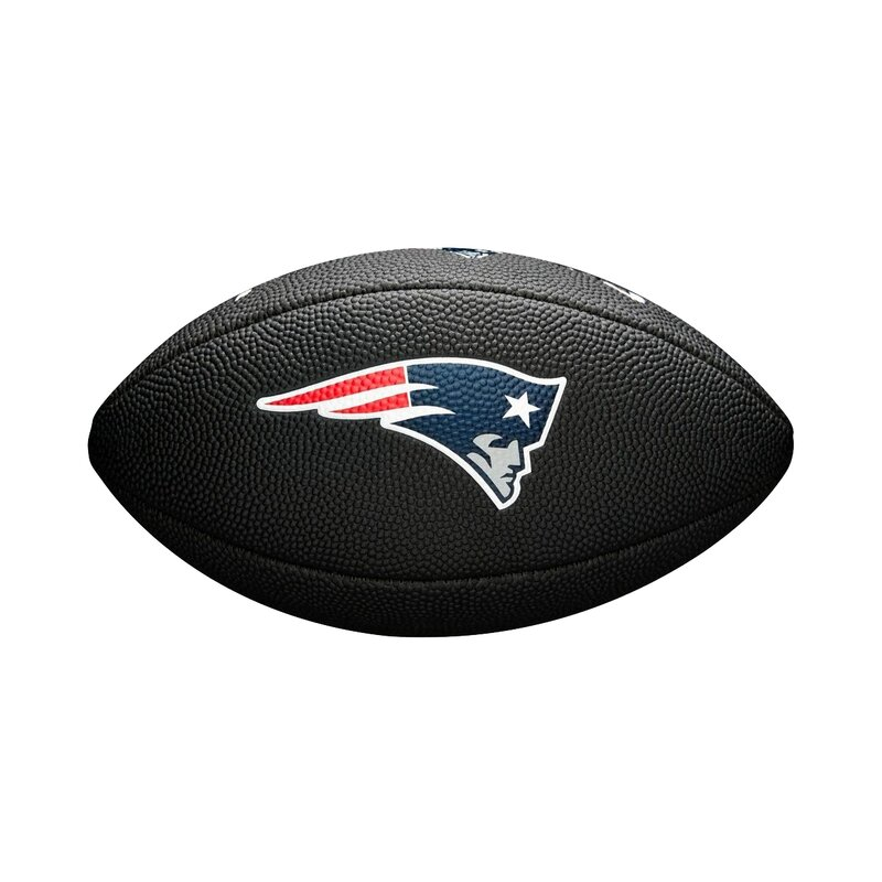 Wilson NFL New England Patriots Logo Mini Football schwarz