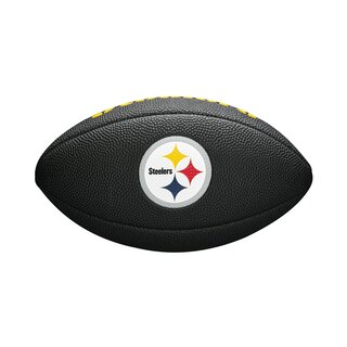 Wilson NFL Pittsburgh Steelers Logo Mini Football schwarz