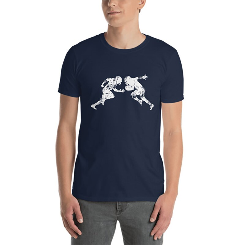 American Sports American Football Fanshirt, T-Shirt shattered tackle, P6W - navy Gr. M