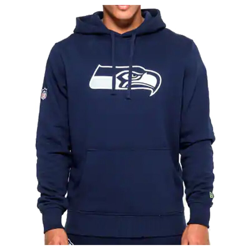 New Era NFL Team Logo Hoodie Seattle Seahawks navy - Gr. M