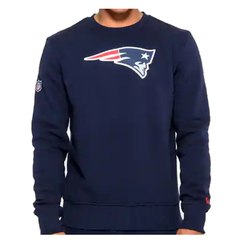 New Era NFL Team Logo Crew Sweatshirt New England Patriots navy - Gr. L