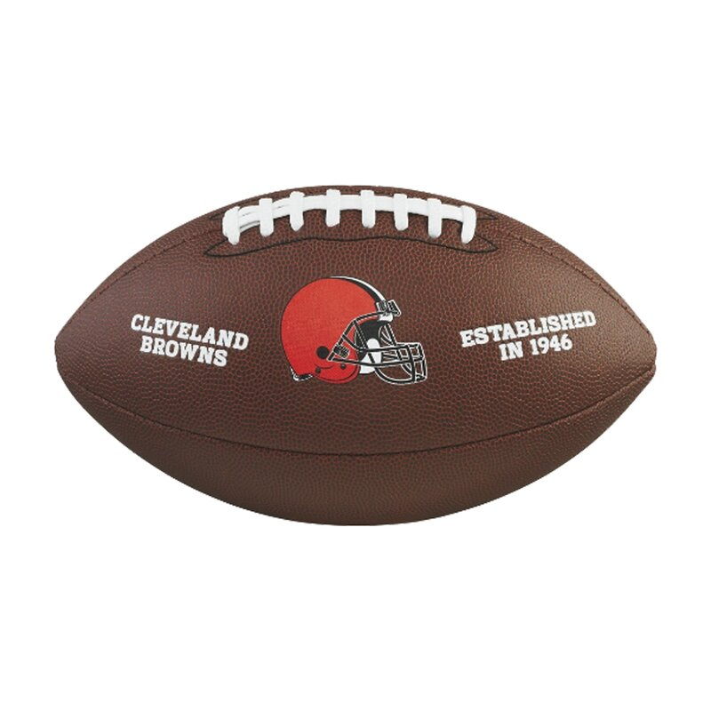 Wilson NFL Team Logo Composite Football Cleveland Browns