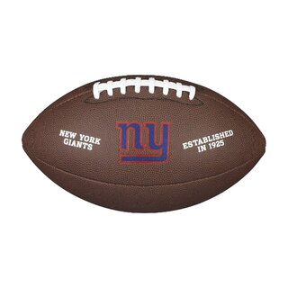 Wilson NFL Team Logo Composite Football New York Giants