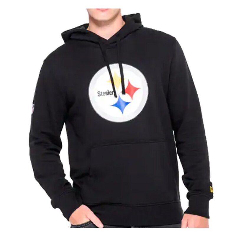 New Era NFL Team Logo Hoodie Pittsburgh Steelers schwarz - Gr. XL