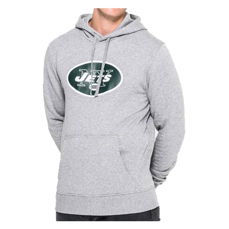 New Era NFL Team Logo Hoodie New York Jets grau - Gr. L