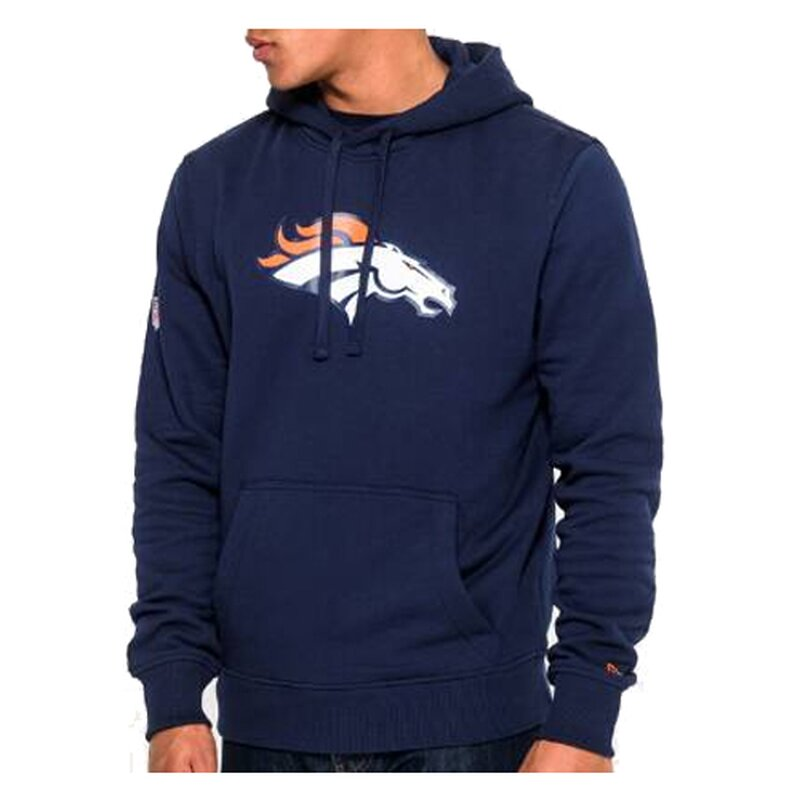 New Era NFL Team Logo Hoodie Denver Broncos navy - Gr. XL