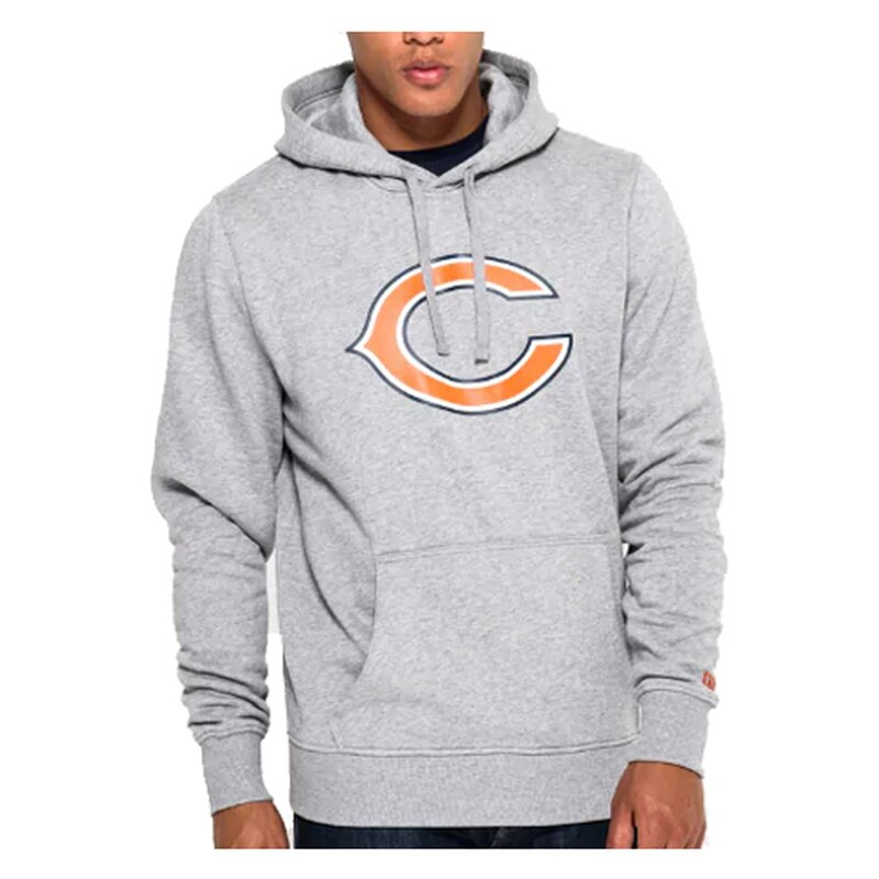 New Era NFL Team Logo Hoodie Chicago Bears grau - Gr. XL