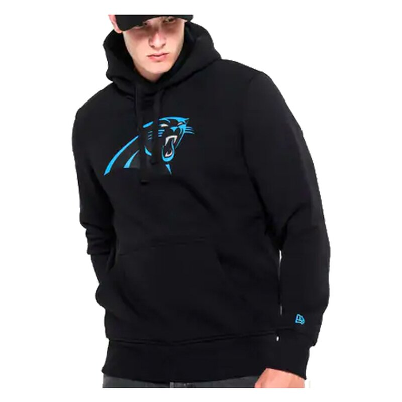 New Era NFL Team Logo Hoodie Carolina Panthers schwarz - Gr. XL
