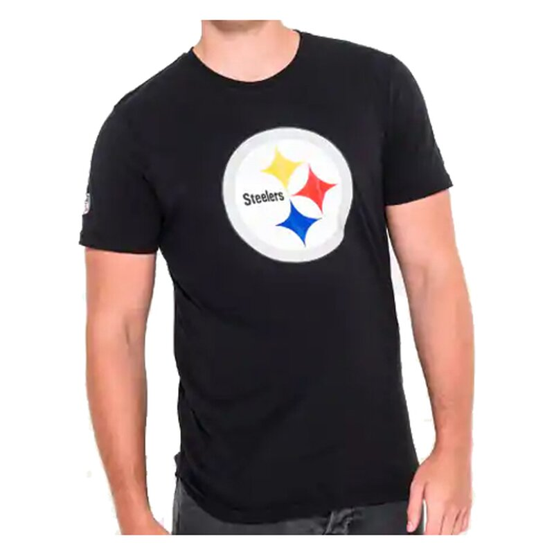 New Era NFL Team Logo T-Shirt Pittsburgh Steelers schwarz - Gr. 2XL