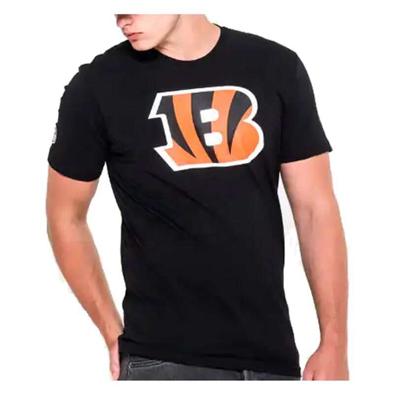 New Era NFL Team Logo T-Shirt Cincinnati Bengals schwarz - Gr. 2XL