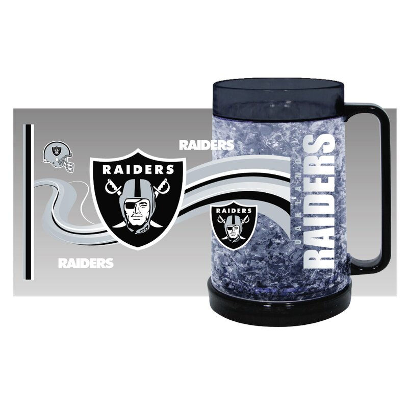 NFL Oakland Raiders Full Color Freezer Mug Krug