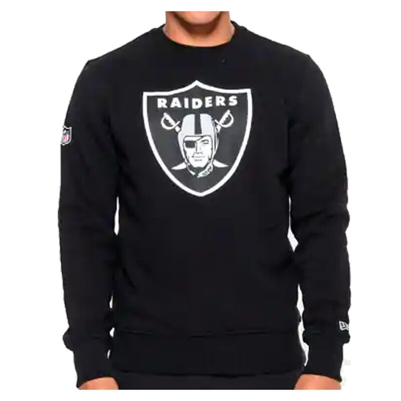 New Era NFL Team Logo Crew Sweatshirt Oakland Raiders schwarz - Gr. XL