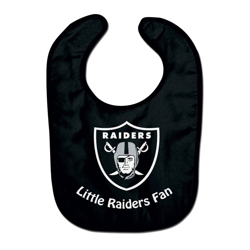 NFL Oakland Raiders Team Color All Pro Little Fan Baby Lätzchen