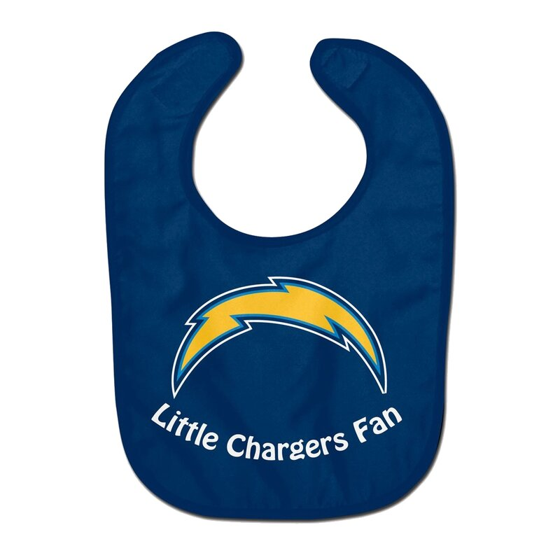 NFL Los Angeles Chargers Team Color All Pro Little Fan Baby Lätzchen