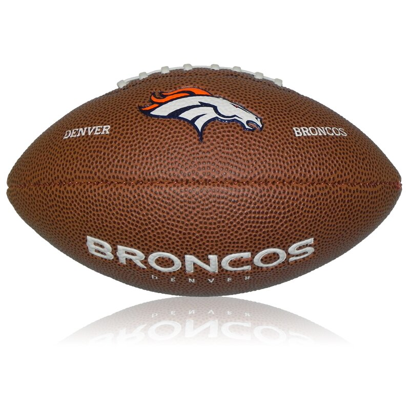 Wilson NFL Mini Denver Broncos Logo Football