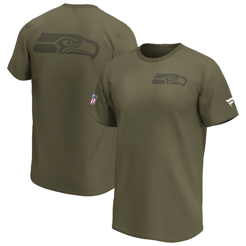Fanatics NFL Seattle Seahawks Logo T-Shirt - khaki Gr 2XL