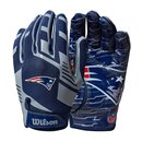 Wilson NFL Stretch Fit Youth Receiver Handschuhe Team New England Patriots