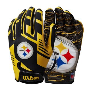 Wilson NFL Stretch Fit Youth Receiver Handschuhe Team...