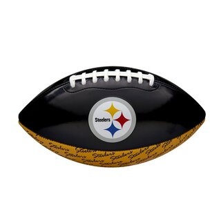 Wilson NFL Peewee Pittsburgh Steelers Logo Football